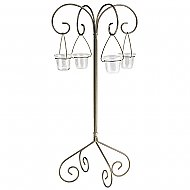 30'' Tall Tabletop Candelabra - Willow Style - Onyx Bronze