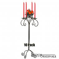 32'' Tall Tabletop Candelabra w/ Flower Bowl - 10 Pack - Onyx Bronze
