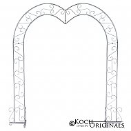 Heart Wedding Arch - Frosted Silver