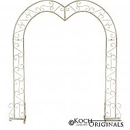 Heart Wedding Arch - Gold Leaf