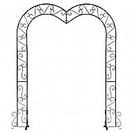 Heart Wedding Arch - Onyx Bronze