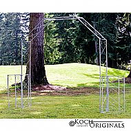 Convertible Wedding Arch w/ Two Columns - 96'' H - Frosted Silver