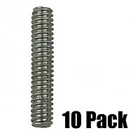 1/4'' Threaded Stud - Zinc - 10 Pack