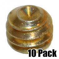Set Screw for Collar - Brass - 10 Pack