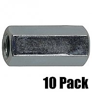 1/4'' x 7/8'' Pillar Coupling Nut - 10 Pack
