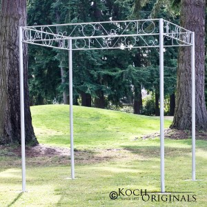 Chuppah - 8' - Frosted Silver