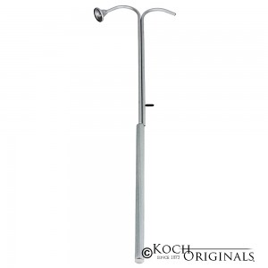 Universal Candle Lighter w/ Votive Snuffer - 38'' Long - Frosted Silver