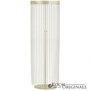 Crystal Column - Adjustable Height - Gold Leaf w/ Clear Crystals