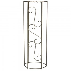 Metal Decorative Column - 38'' Height - Onyx Bronze