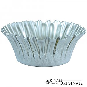 Flower Bowl - 8'' - Frosted Silver