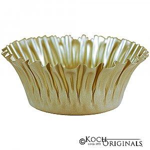 Flower Bowl - 8'' - Gold Leaf