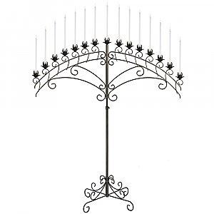 15-Light Fan Floor Candelabra - Onyx Bronze