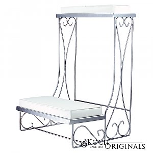 Single Kneeling Bench - Convertible - Frosted Silver