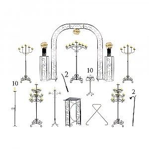 Complete Wedding Package - Pillar Candelabras
