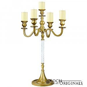 Elegance Tabletop Candelabra - 30'' - 5 light - Gold Leaf