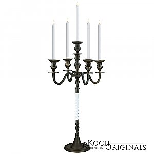 Elegance Tabletop Candelabra - 30'' - 5 light - Onyx Bronze