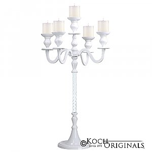Elegance Tabletop Candelabra - 30'' - 5 light - White