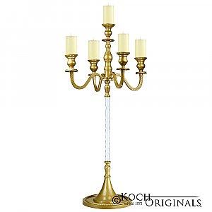 Elegance Candelabra - 40'' - 5 light - Gold Leaf