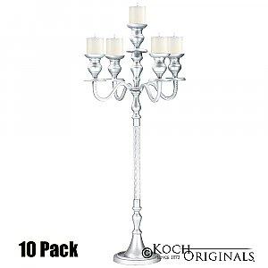 Elegance Candelabra - 40'' - 5 light - 10 Pack - Frosted Silver