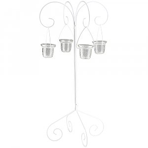 30'' Tall Tabletop Candelabra - Willow Style - White
