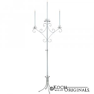 Convertible Unity Candelabra - Frosted Silver