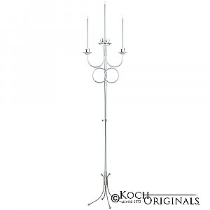 Double Ring Unity Candelabra - Frosted Silver