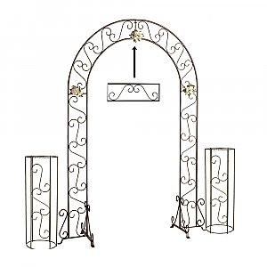 Wedding Arch w/ Two Columns & Extender - 92'' - Onyx Bronze