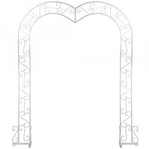 Heart Wedding Arch - White