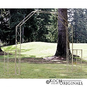 Convertible Wedding Arch w/ Two Columns - 96'' H - Gold Leaf