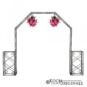 Convertible Wedding Arch w/ Two Columns - 96'' H - Onyx Bronze