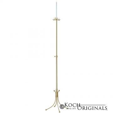 1-Light Freestanding Aisle Candelabra - Gold Leaf