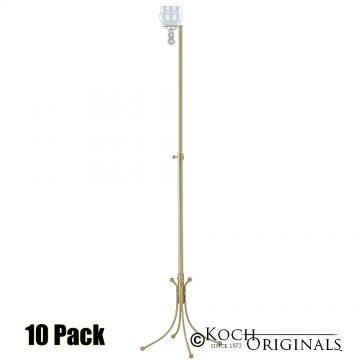 1-Light Freestanding Aisle Candelabra - Teardrop Style - 10 Pack - Gold Leaf