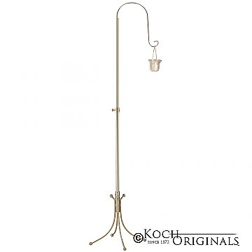 1-Light Freestanding Aisle Candelabra - Willow Style - Gold Leaf