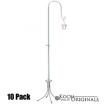1-Light Freestanding Aisle Candelabra - Willow Style - 10 Pack - Frosted Silver