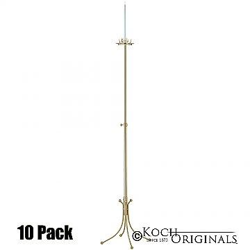 1-Light Freestanding Aisle Candelabra - 10 Pack - Gold Leaf