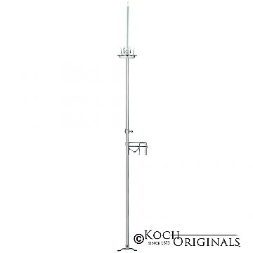 1-Light Aisle Candelabra w/ Quick Clamp - Frosted Silver