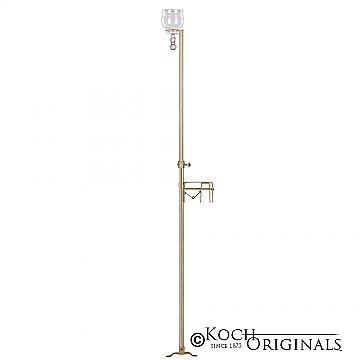 1-Light Aisle Candelabra w/ Quick Clamp - Teardrop Style - Gold Leaf