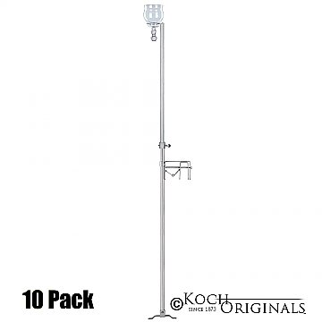 1-Light Aisle Candelabra w/ Quick Clamp - Teardrop Style - 10 Pack - Frosted Silver