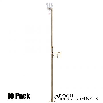 1-Light Aisle Candelabra w/ Quick Clamp - Teardrop Style - 10 Pack - Gold Leaf