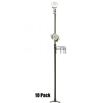 1-Light Aisle Candelabra w/ Quick Clamp - Teardrop Style - 10 Pack - Onyx Bronze