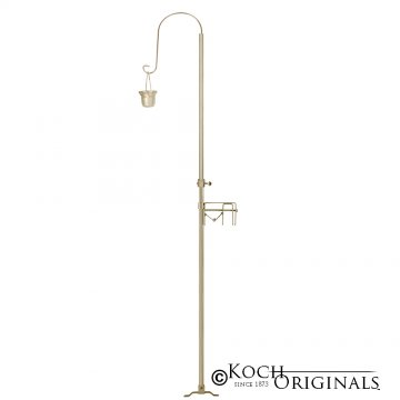 1-Light Quick Clamp Aisle Candelabra - Willow Style - Gold Leaf