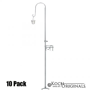 1-Light Quick Clamp Aisle Candelabra - Willow Style - 10 Pack - Frosted Silver