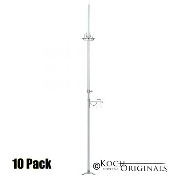 1-Light Aisle Candelabra w/ Quick Clamp - 10 Pack - Frosted Silver