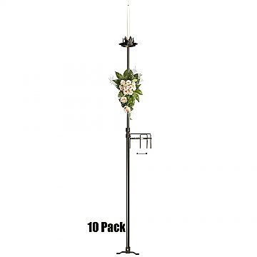 1-Light Aisle Candelabra w/ Quick Clamp - 10 Pack - Onyx Bronze