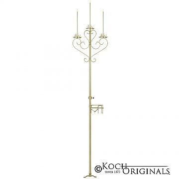 3-Light Aisle Candelabra w/ Quick Clamp - Gold Leaf