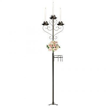 3-Light Aisle Candelabra w/ Quick Clamp - Onyx Bronze