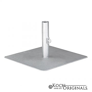 Aisle Candelabra Low-Profile Adaptor - Frosted Silver