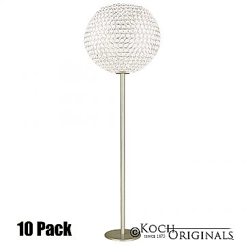 Tabletop Crystal Ball Candelabra - 36'' Tall - 12'' Ball - 10 Pack - Gold Leaf w/ Clear Crystals