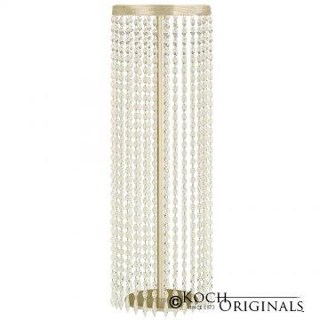 Tabletop Crystal Column - 25'' Tall - Gold Leaf w/ Clear Crystals