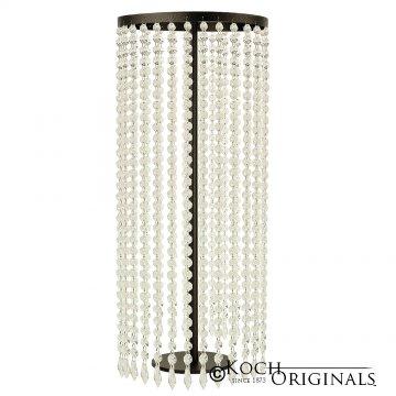 Tabletop Crystal Column - 25'' Tall - Onyx Bronze w/ Clear Crystals